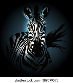 Vector illustration of zebra