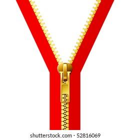 vector illustration of zipper