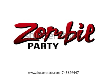 Vector illustration zombie party banner poster stock vector royalty vector illustration of a zombie party for banner poster greeting cards invitation m4hsunfo