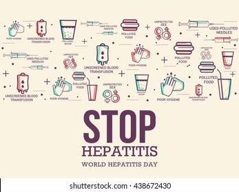 Vector illustration,banne or poster for  world hepatitis day.