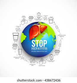 Vector illustration,banne or poster for  world hepatitis day.