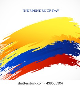 Vector illustration,banner or poster for  independence day of Columbia.