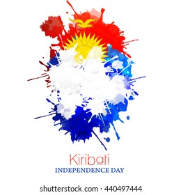 Vector illustration,banner or poster for Kiribati Independence Day.