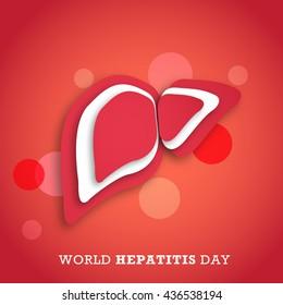 Vector illustration,banner or poster of world hepatitis day.