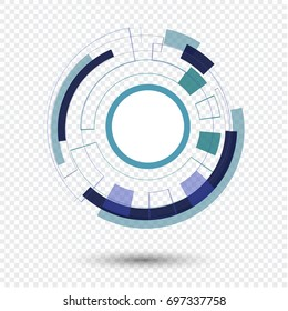 vector illustration.Business Abstract Circle icon.Technilogy styles vector logo design template.