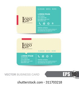 Vector illustration,business card template with clean and modern pattern