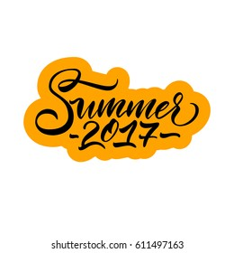 Vector illustration.Calligraphy.Typography card, image with lettering.Element for graphic design.Summer 2017.