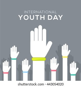 Vector illustration,card,banner or poster for international youth day.