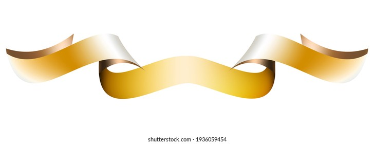 Vector illustration,Decorative  ribbon element on white banner background