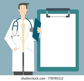 Vector Illustration,Doctor health tips report