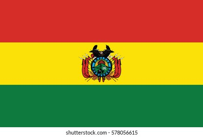 vector illustration,Flag of Bolivia (state)
