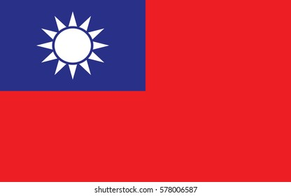 vector illustration,Flag of the Republic of China