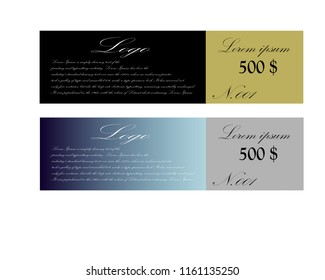 Vector illustration,Gift voucher template with colorful pattern,
