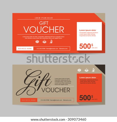 vector illustration gift voucher template colorful patterngift stock