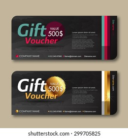 Vector illustration,Gift voucher template with premium pattern.