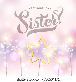 Happy Birthday Sister Card Images Stock Photos Vectors Shutterstock