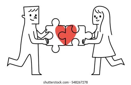 Vector illustration-Happy Valentine's Day