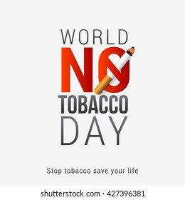Vector illustration,poster or banner for world no tobacco day.stop tobacco