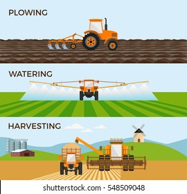 Vector illustrations for agricultural and farming. Infographic