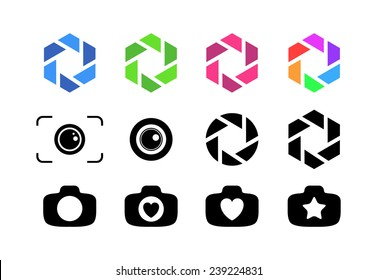 Vector Illustrations of Camera Lens saved as eps-10, file contains objects with transparency.