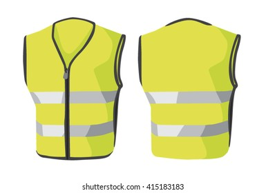 Vector illustrations of clothes. Reflective vest