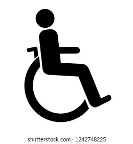 Vector illustrations of the disabled symbol.