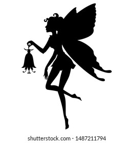 Vector illustrations of Fairy Girl Silhouette