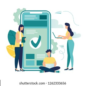 Vector illustrations, financial transactions, non-cash payment transactions. The Pos terminal and the payment system, monetary currency, the concept of payment NFC-vector