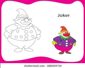Joker Colouring Hd Stock Images Shutterstock