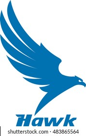Vector illustrations or mascot, the eagle was flying as a logo, a symbol of a company.