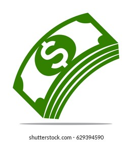 Vector illustrations for money icons, especially the dollar