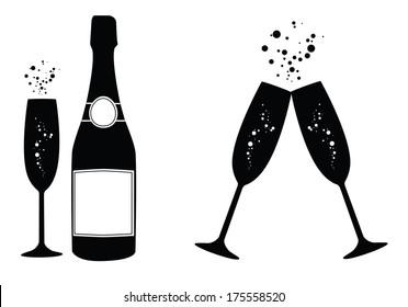 1d21901b3c0 Champagne Silhouette Images, Stock Photos & Vectors | Shutterstock