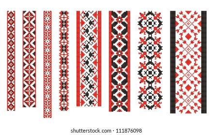 Vector illustrations of ukrainian embroidery