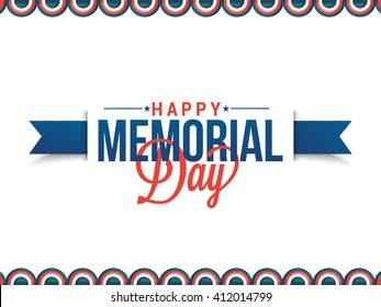 Vector illustration,sale banner or poster of Happy memorial day.