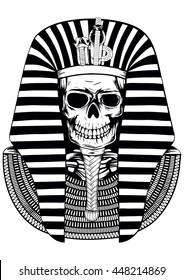 Vector illustratoin skull Egyptian Pharaoh