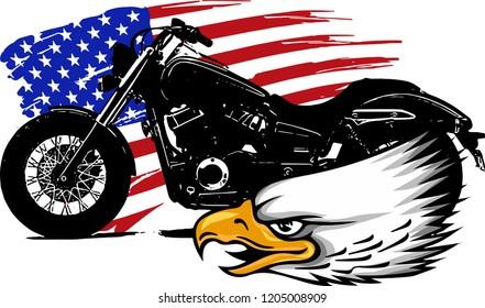Sticker car motorcycle helmet decal chopper biker texas buffalo flag