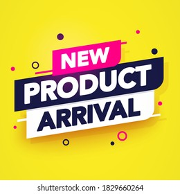 Vector Illustraton New Product Arrival Sign. Modern Business Banner.