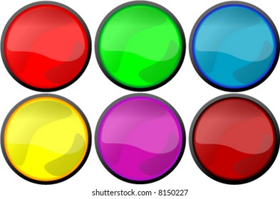 vector illustrtion of web buttons