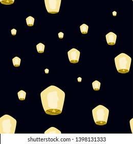 Vector ilustration lampion/lantern seamles pattern can be ised for your design project, clothing, card, presentation, website, etc