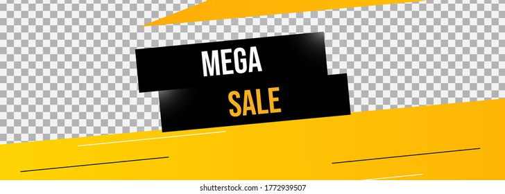 vector image of advertising about the upcoming mega sale
