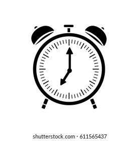 Vector image of an alarm clock