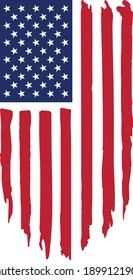 Vector image of american flag, 4th of july, usa flag vector