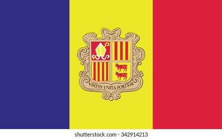 Vector image of Andorra flag