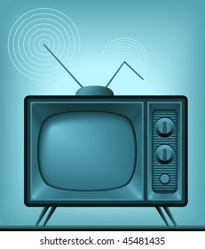 It's a vector image of an antique TV. Add or remove details from layers.