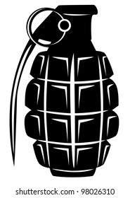 Vector image of an army manual grenade