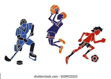 vector image of athletes