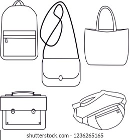 vector image of bags