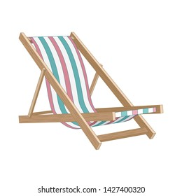 Vector image of a beach chair. Vector image on white background.