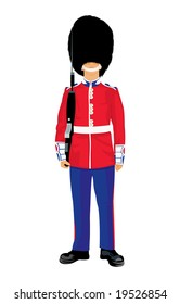 vector image of beefeater isolated on white