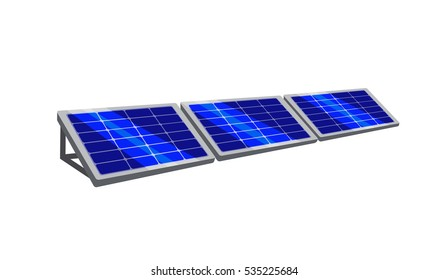 Vector image of bright solar panels